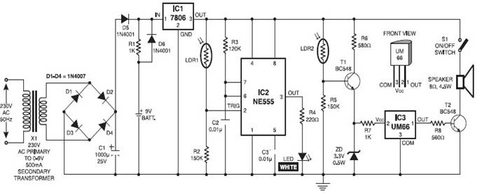 Project on Automatic Light Lamp Project Report, Circuits of Light ...